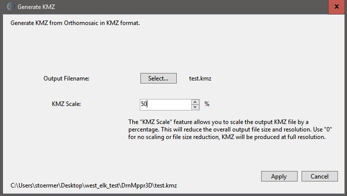 Export Orthomosaic to KMZ Format - DroneMapper